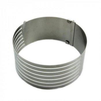 Розсувна кругла форма для випічки висота 8 см (20009)