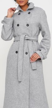 Пальто Jhiva 10014002 Світло-сіре