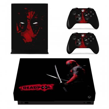 Вінілові наклейки на Xbox One X і Gamepad Deadpool Custom Skin Playsole Vinyls (PV4021)