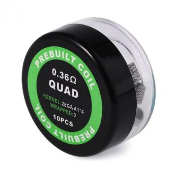 Комплект спиралей PREBUILT Quad Coil 0.36 10 шт Ом (bs054)