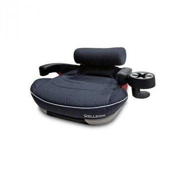 Автокрісло-бустер дитяче Welldon Pad Travel IsoFix Графітовий PG09-TP95-001 (22-36 кг), від 4 до 12 років, підлокітники, подушка для попереку, підсклянник (FK-PG09-TP95-001 YS)