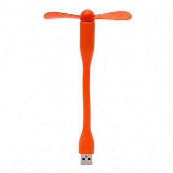 Портативный гибкий USB вентилятор UTM Оранжевый