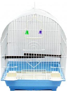 Клетка для птицы ZooMax Бело-голубая 30 x 23 x 39 см (23333) (4820097809043)