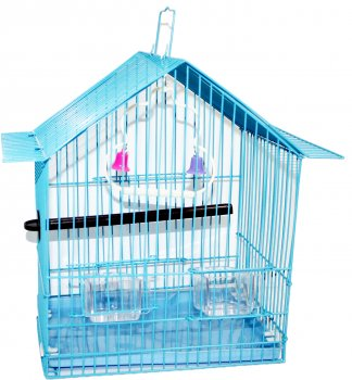 Клетка для птицы ZooMax Голубая 24 x 18.5 x 31 см (23338) (4820097809067)