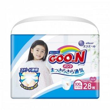 Підгузки-трусики Goo.N XXL 13 - 25 кг для дівчаток 28 шт (853885)