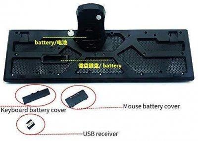 Комплект бездротова клавіатура і миша UKC TJ-808, чорний