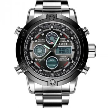 Мужские часы AMST Mountain Steel 50х15 мм Серебрянный 1241