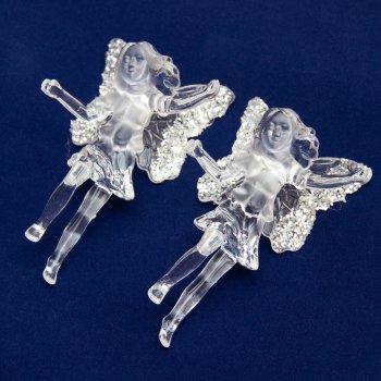 Набор елочных игрушек mag-2000 ангел 2 шт 12 см Прозрачный (5102682200664)