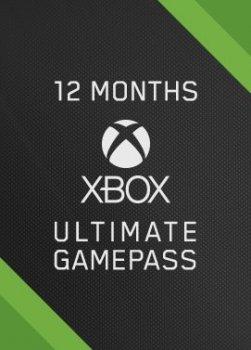 Подписка цифровой код Xbox Game Pass Ultimate на 12 месяцев | Все Страны