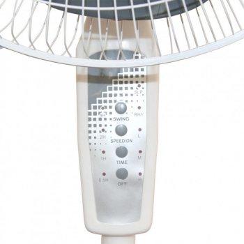 Вентилятор підлоговий з пультом нахилом і поворотом 41 см дистанційне керування Changli Crown FS-1608 40 Вт Білий (optb_007306)