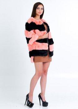 Полушубок BG-Furs бомбер свитер из кролика Персиковый