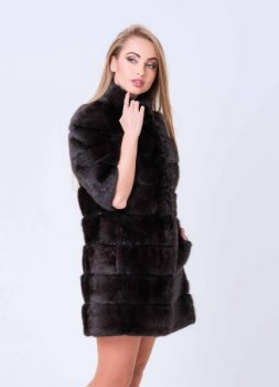 Шуба BG-Furs из лесной норки Шоколадная