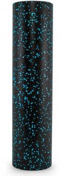 Ролик масажний підвищеної щільності ProSource High Density Speckled Foam Roller 61 x 15.2 см Чорний/синій (ps-2062-sfr-blue-24)