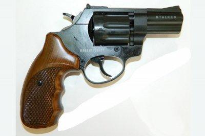 """Револьвер під патрон Флобера Stalker 2.5 """"Wood"""" (сталевий барабан)"""