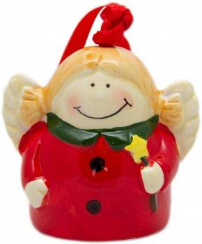 Ялинкова іграшка Маг2000 Керамічна Ангел 8 см (5102681024940)