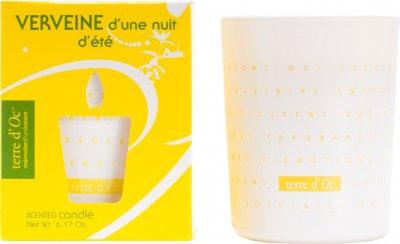 Парфумована свічка Terre d'Oc Аромат вербени літньої ночі 175 г (3700324424403)