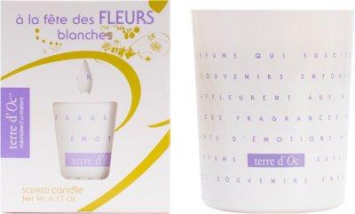 Парфумована свічка Terre d'Oc Фестиваль білих квітів 175 г (3700324424328)