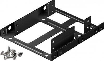 Деталь монтажна Goobay Монтажна рама (HDD) 3.5-2.5x2 кріплення (піддон) чорний(75.07.3212)