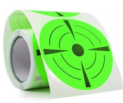 Мішень 7dayslabel флюоресцентна d=74 мм Зелена