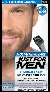 Краска для бороды и усов JUST FOR MEN (м30) - Светлый средний коричневый 28 мл.