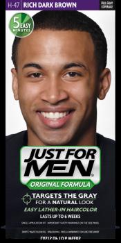 Краска для волос мужчин JUST FOR MEN (H47) - Насыщенный тёмный коричневый 66 мл.