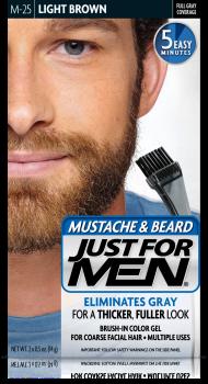 Краска для бороды и усов JUST FOR MEN (м25) - Светлый коричневый 28 мл.