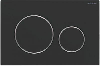 Панель смыва GEBERIT Sigma20 115.882.14.1 черная матовая/хром