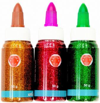 Клей для слаймов с блестками Malevaro 50 мл 3 цвета Зеленый Терракотовый Розовый (XD12050-pgo)