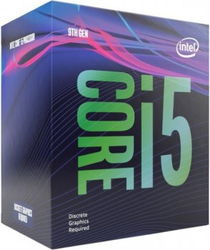 Процесор CPU Core i5-9400F 6 cores 2,90 Ghz-4,10 GHz(Turbo)/9Mb/s1151/14nm/65W Coffee Lake-S (BX80684I59400F) BOX