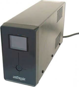 Блок безперебійного живлення EnerGenie EG-UPS-031, LCD дисплей, 650VA, чорний колір