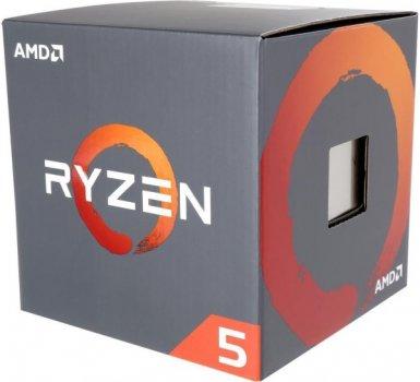 Процесор CPU AMD 6C/12T Ryzen 5 1600 3,2 GHz-3,6 GHz(Turbo)/16MB/65W (YD1600BBAFBOX) sAM4 BOX