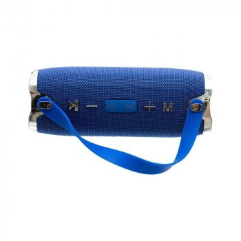 Портативная акустическая стерео колонка Hopestar H24 Bluetooth, blue, с функцией Power Bank + кабель для зарядки