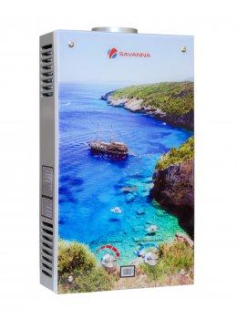 Колонка газовая Savanna 18кВт 10л LCD стекло Лагуна