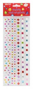 Перлини та стрази Maxi самоклейні Асорті перлини, квадрати, ромби (MX61605-14)