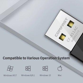 Comfast CF-811AC Wifi адаптер 5 Ghz двухдиапазонный 650 Mbps Comfast (1049255867)