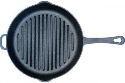 Сковорода-гриль чавунна Товарbiol 240 мм з носиком (1124)