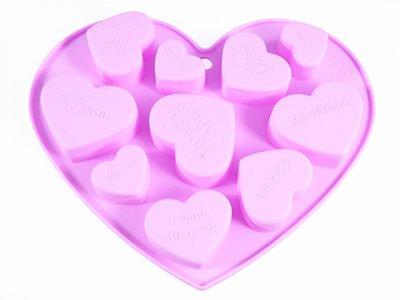 Форма для льоду Fissman силіконова 10 клітинок 17.8х14х1.5см Рожева (6562)