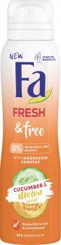 Дезодорант-спрей Fa Fresh&Free Огурец-дыня с магний комплексом 150 мл (4015100309072)