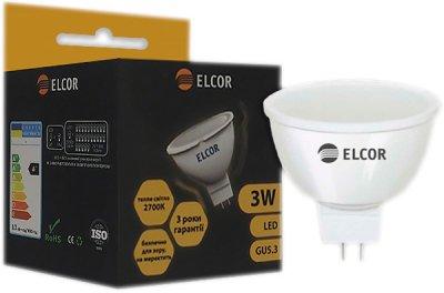 Світлодіодна лампа ELCOR LED MR16 3W GU5.3 2700K (EL-534326)