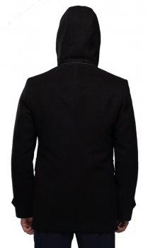 Пальто чоловіче з капюшоном Мадрид Кашемір Сірий