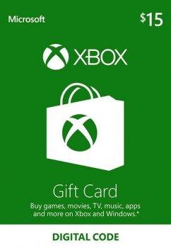 Подарункова карта Xbox Live / Gift Card поповнення гаманця (рахунки) свого аккаунта на суму 15 usd, US-регіон