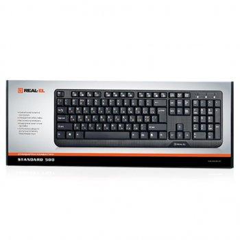 Клавіатура REAL-EL 500 Standard, USB, black (2503)