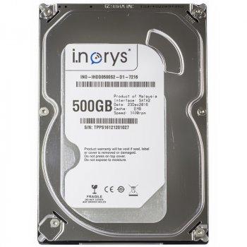 """Жорсткий диск i.norys 2,5"""" 500GB 5400rpm 8MB (INO-IHDD0500S2-N1-5408) для настільного комп'ютера, ноутбука"""