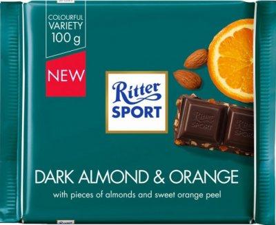 Шоколад Ritter Sport Темний з мигдальним горіхом і апельсином 100 г (4000417212009)