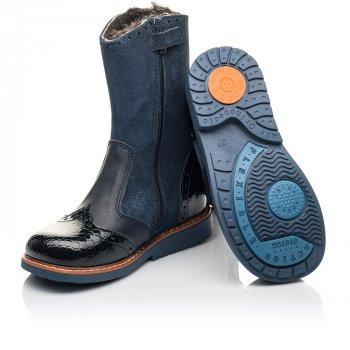 Зимние сапоги на меху Woopy Orthopedic синий (4459)