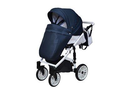 Детская коляска 2 в 1 Angelina Amadeo темно-синяя color 9