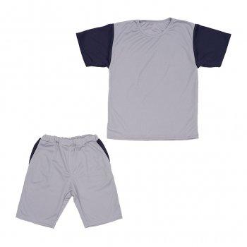 Костюм Sofushka (футболка+шорти) сірий з синім 152