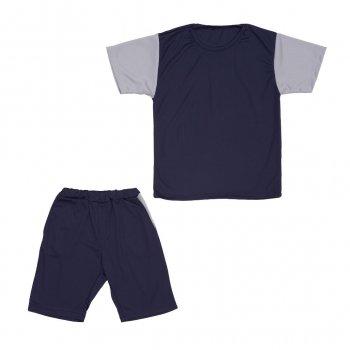 Костюм Sofushka (футболка+шорти) синій з сірим 158