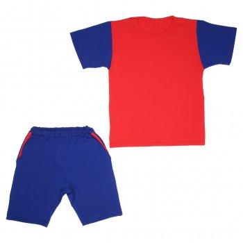 Костюм Sofushka (футболка+шорти) електрик з червоним 158