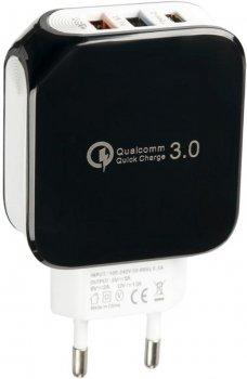 Сетевое зарядное устройство Gelius Pro Voltag QC GP-HC07 2USB 2A Black (2099900763595)